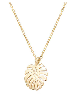 In the Tropics Necklace-Gold