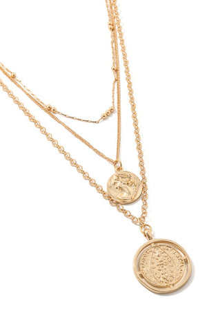 Pirette Coin Necklace-Gold