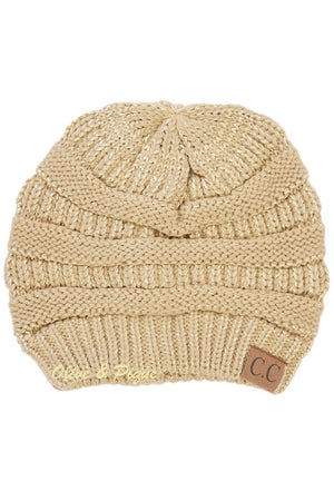 Light Gold Beanie