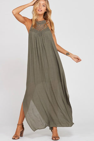All Decked in Lace Maxi Dress