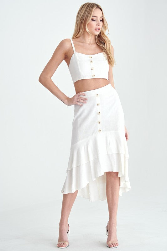 Sandy Shores Midi Skirt