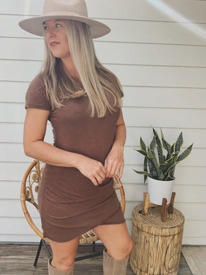 Morning Mocha Tulip Dress