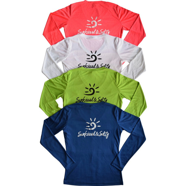 Long sleeve performance shirt, ladies performance wear, women's casual long sleeve shirt, long sleeve SPF shirt, women's SPF shirt, ladies SPF long sleeve shirt