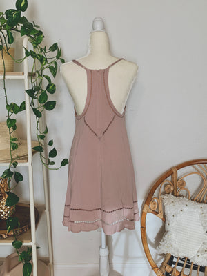Eyes On You Mauve Tank Dress