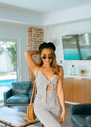 Montego Bay Striped Jumpsuit
