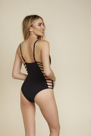 Cage Me Up One Piece - Black Sand