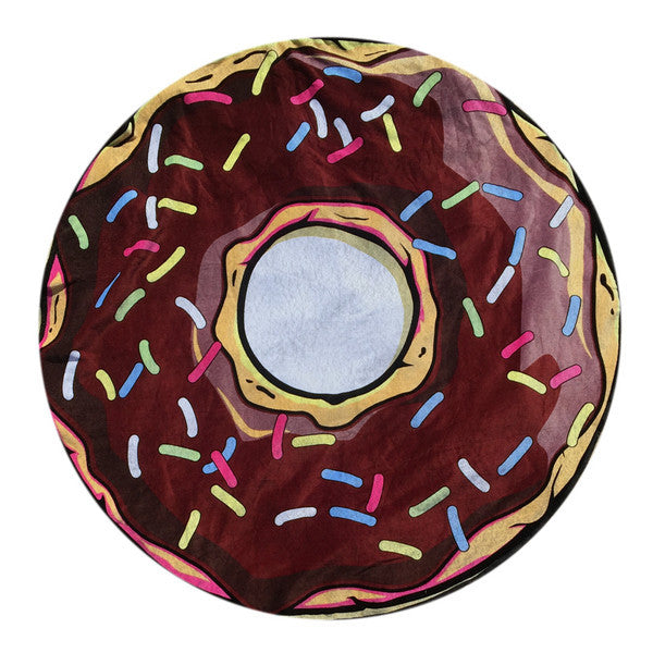 Round donut beach towel