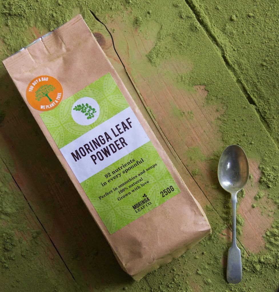*33% OFF WHILST STOCKS LAST* 100% Raw Moringa Powder. Everything Must Go! 250g Bag. Sustainably Farmed. For Every Bag Sold, We Plant A Moringa Tree To