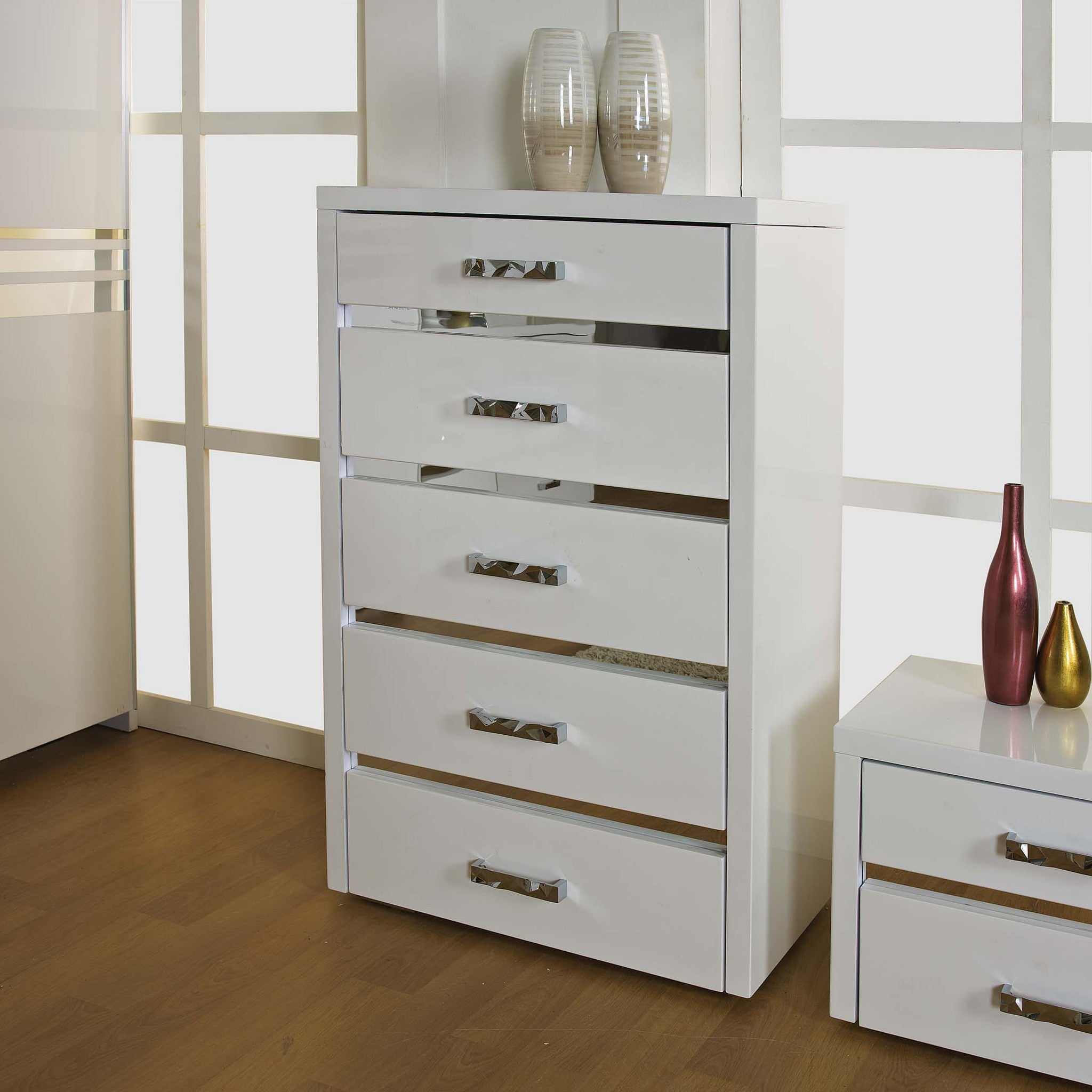 Bedroom Furniture White High Gloss