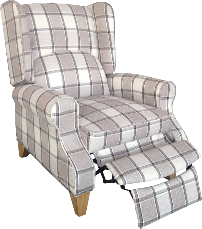 kensington wing back recliner chair grey check ahoc ltd - Wing Chair Recliner. Top Wing Chair Recliner. Newport Stretch