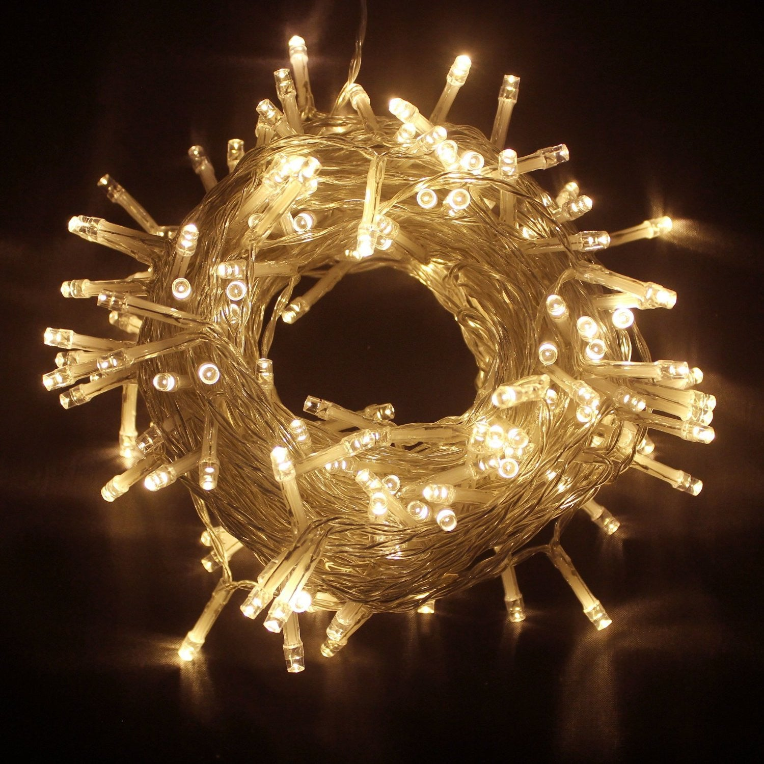 400 led warm white fairy string lights 8 function