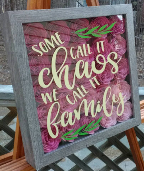"""Some Call it Chaos..."" Pink Ombre Shadow Box"