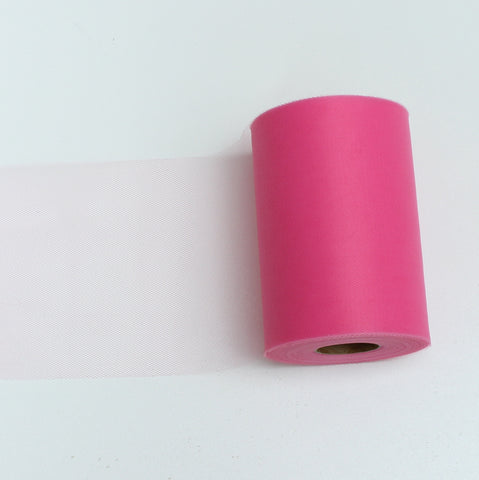 Tulle Roll - Hot Pink tulle roll - 6 inches - 100 yard - Hot Pink rolls - tulle rolls - Hot Pink wedding decor - Hot Pink tulle roll - Tulle Spool 100 yard