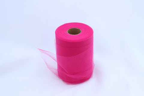 Tulle Roll - Fuchsia tulle roll - 6 inches - 100 yard - Fuchsia rolls - tulle rolls - Fuchsia wedding decor - Fuchsia tulle roll - Tulle Spool 100 yard
