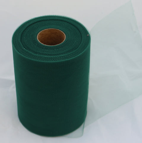 Tulle Roll -  Dark Green tulle roll - 6 inches - 100 yard - Dark Green rolls - tulle rolls - Dark Green wedding decor - Dark Green tulle roll - Tulle Spool 100 yard<br />Quality diamond mesh tulle in Dark Green Color 6 inches X 100 yards length.