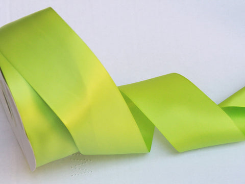 Apple Green Satin Ribbon