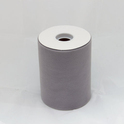 Grey tulle roll - 6 inches - 100 yard - Grey rolls - tulle rolls - Grey wedding decor - Grey tulle roll - Tulle Spool 100 yard