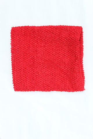 Lined tutu top - ships free - 1 Red tutu top 12 inches lined - tutu supply - waffle crochet top - crochet elastic band