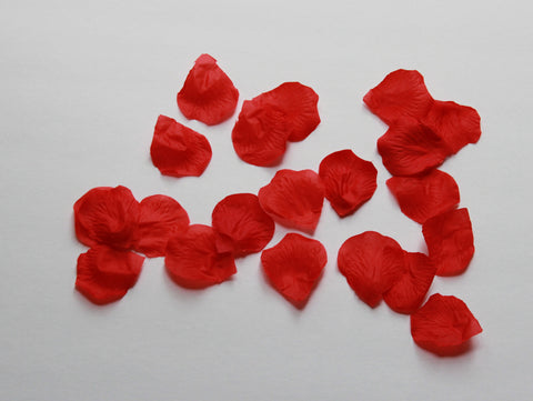 Red Rose Petals - Silk Rose Petals - 100 Rose Petals for Party Decor and Tutu making