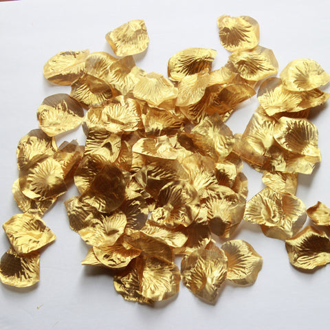 Gold Rose Petals - Silk Rose Petals - 100 Rose Petals for Party Decor and Tutu making
