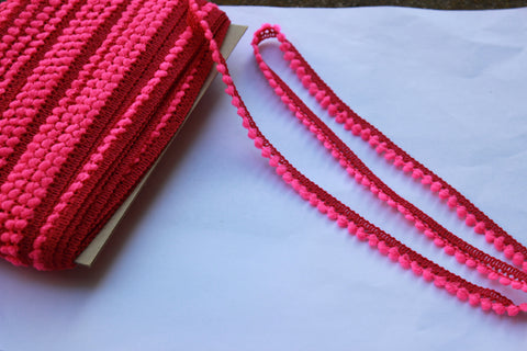 Fuchsia Pom Pom Trim - Pom Pom Trim for Sewing - Pom Pom Trim Fuchsia