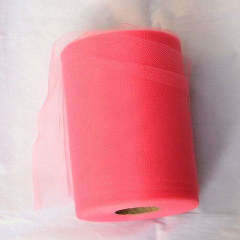 Tulle Roll - Coral tulle roll - 6 inches - 100 yard - Coral rolls - tulle rolls - Coral wedding decor - Coral tulle roll - Tulle Spool 100 yard