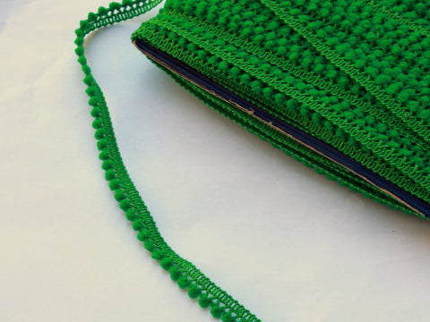 Green Pom Pom Trim - Pom Pom Trim for Sewing - Pom Pom Trim Green