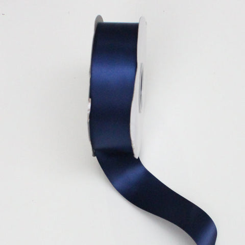 Double Faced Satin Ribbon 1.5 in - Navy Blue Satin Ribbon 5 Yards or more - Double Faced Navy Blue Satin Ribbon - Free Shipping