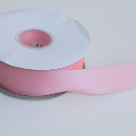 Shipped Free - Double Faced Satin Ribbon 1.5 in - Pink Satin Ribbon 5 Yards or more - Double Faced Pink Satin Ribbon