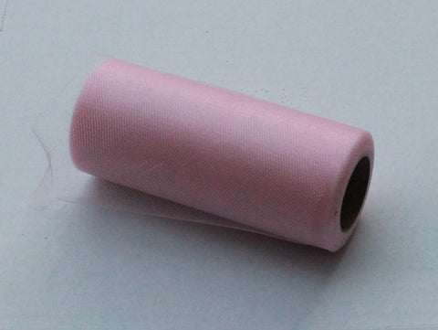 Pink Shimmer Tulle Roll - 6 in X 25 yards - Glimmer tulle roll - Free Shipping - Pink shining tulle rolls