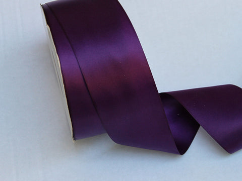 Double Faced Plum Satin Ribbon