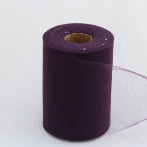 Tulle Roll -  Plum tulle roll - 6 inches - 100 yard - Plum rolls - tulle rolls - Plum wedding decor - Plum tulle roll - Tulle Spool 100 yard
