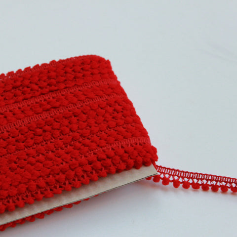 Red Pom Pom Trim - Pom Pom Trim for Sewing - Pom Pom Trim Red