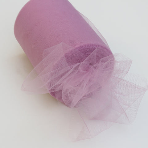 Tulle Roll - Rosy Mauve tulle roll - 6 inches - 100 yard - Rosy Mauve rolls - tulle rolls - Rosy Mauve wedding decor - Rosy Mauve tulle roll - Tulle Spool 100 yard