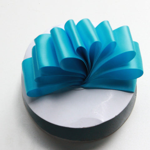Shipped Free - Double Faced Satin Ribbon 1.5 in - Turquoise Satin Ribbon 5 Yards or more - Double Faced Turquoise Satin Ribbon