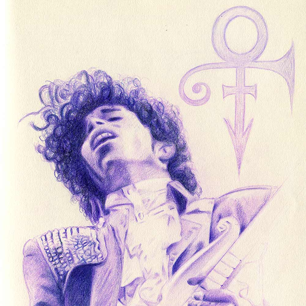loraine yow lolo-ology illustrator prince purple portrait drawing