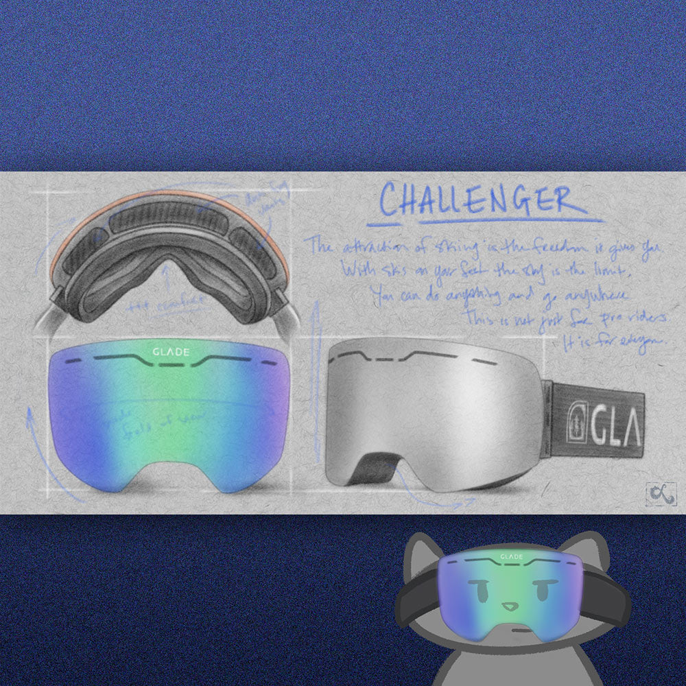 Product Concept Sketches for Glade Optics