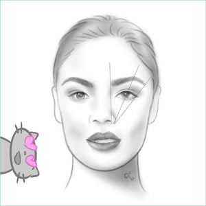 portrait illustration brow mapping loraine yow