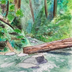 Eagle Creek Watercolor Sketch