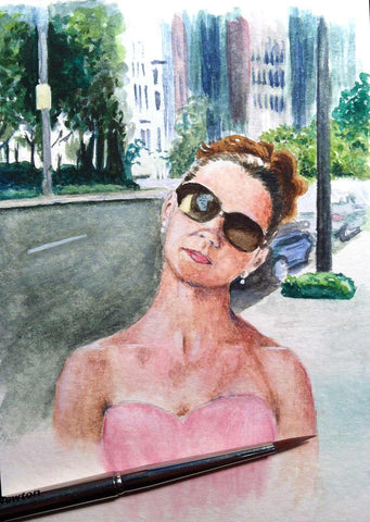 satc charlotte park ave nyc watercolor