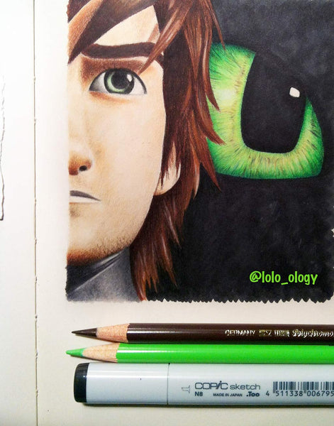 how to train your dragon fan art toothless and hiccup drawing