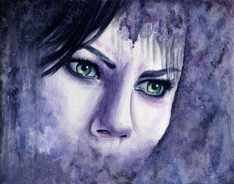 fairuza balk watercolor green eyes