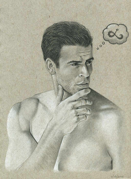 male model pencil sketch