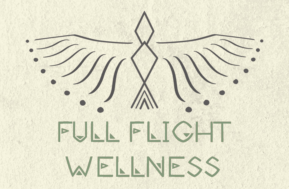 loraine yow illustration african pattern logo full flight wellness