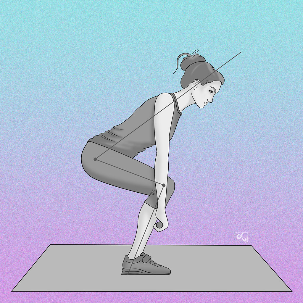 exercise illustration weight lifting form by loraine yow