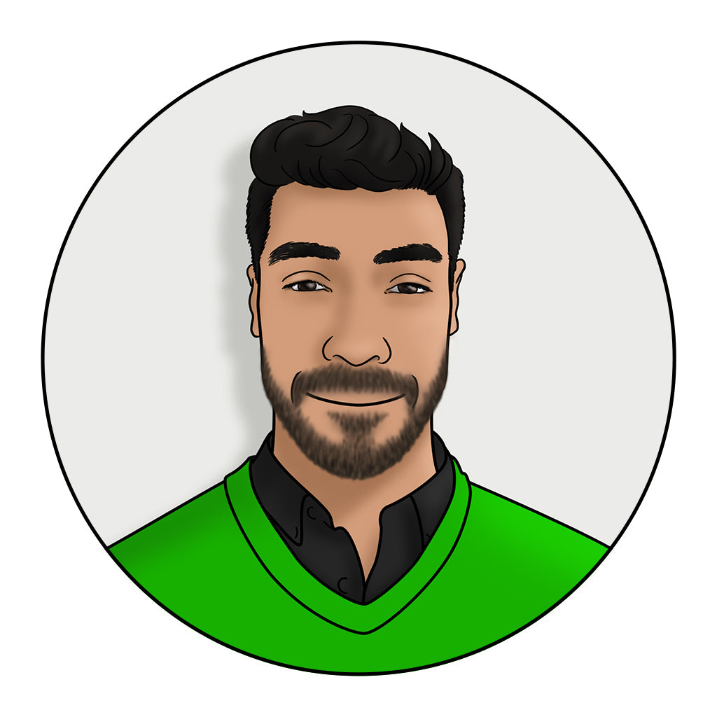 Illustrated headshot avatar for tech company