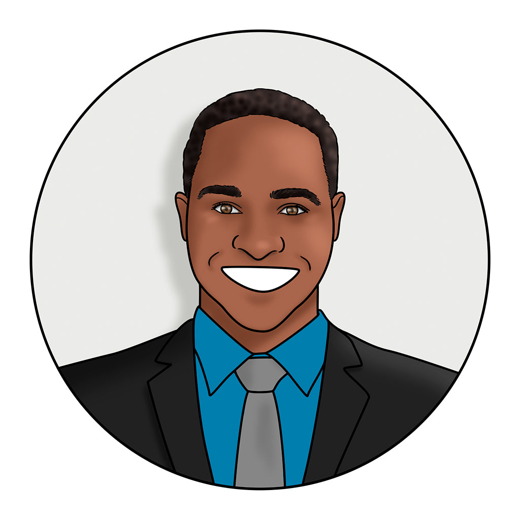 headshot illustrations for company team avatars