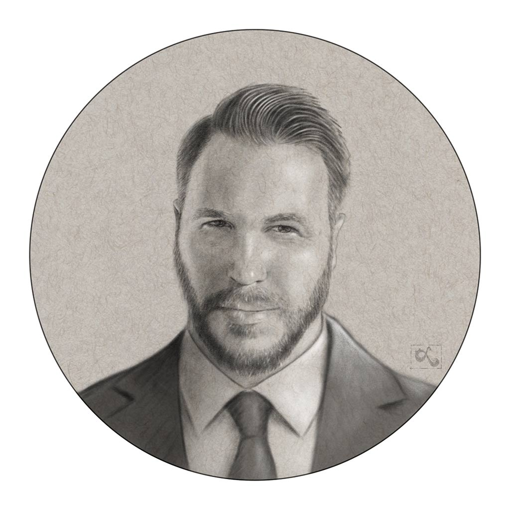 photorealistic headshot illustration profile pic for linked in