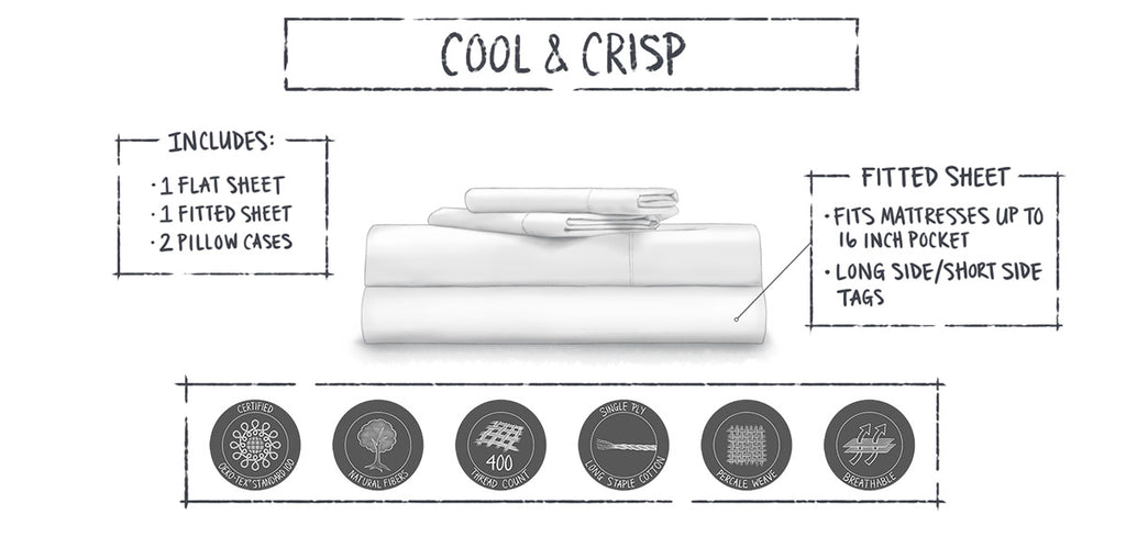 sheet set infographic bedding product illustrations by loraine yow