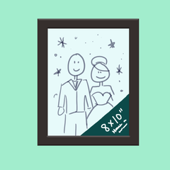drawing of 8 x 10 photo frame